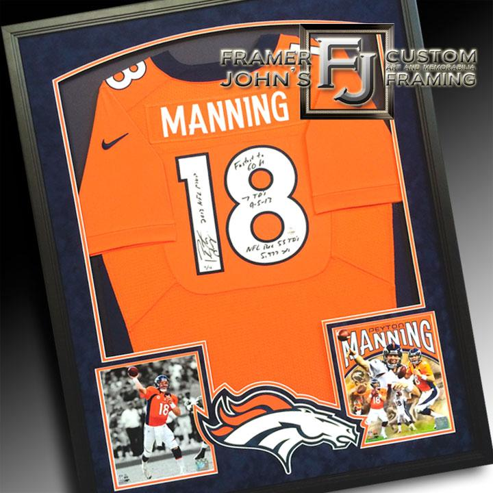 MANNING JERSEY WITH 2 PHOTOS AND LOGO-SUEDE MATTING