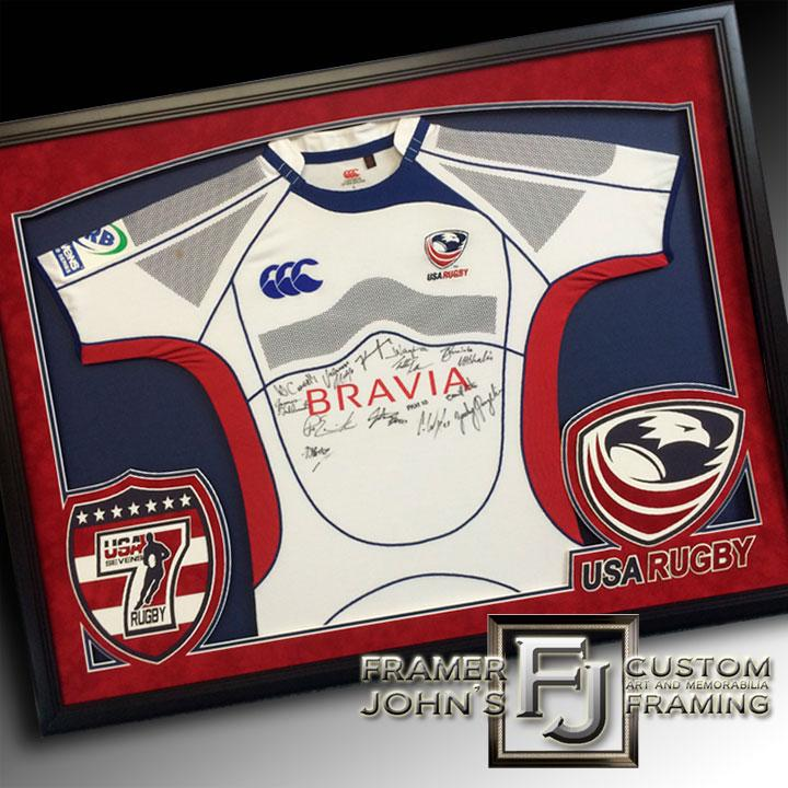 USA SEVENS RUGBY JERSEY WITH TWO CUSTOM LOGOS