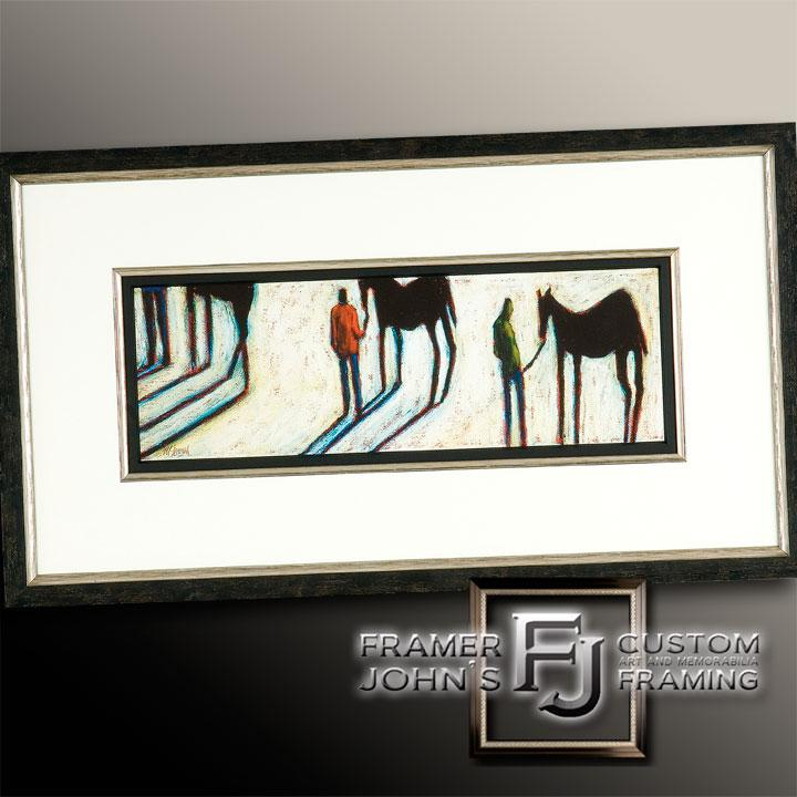 STICK HORSES LITHOGRAPH
