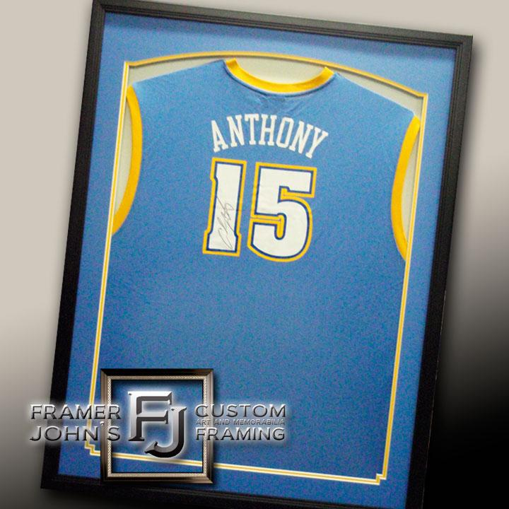CARMELO ANTHONY WITH STANDARD FRAMING