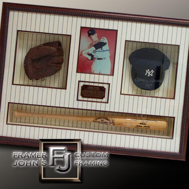 MICKEY MANTLE COLLAGE SHADOWBOX